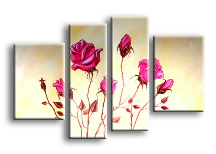 Quadro con fiori rose cod150 beige colore criteri di for Quadri con rose rosse