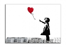 Quadro moderno Girl with red balloon Banksy
