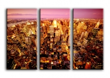 Quadro moderno Skyline di New York 3 tele