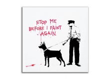 Quadro moderno Stop me before i paint again Banksy